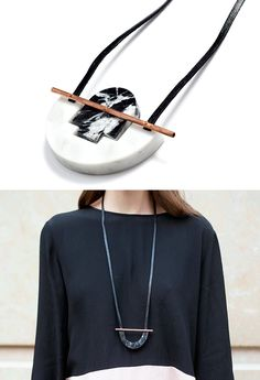 marble necklaces from RillRill Jewelry