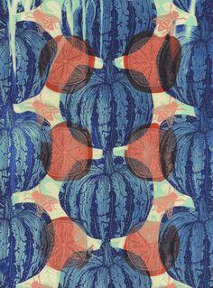 Hannah Rampley, patterned fruits
