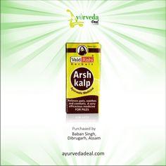 Vaid Rishi Arsh kalp Cap is an #ayurvedic medicine for #piles, #hemorrhoids & #analfistula. Available in Rs.65.00 Buy