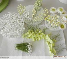 Цветы из мастики, крема и т.д.