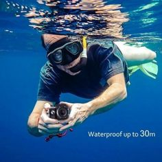 With easy to use and high performance, it is really a wonderful action camcorder for you. Video recording while charging. Go Car, Waterproof Camera, Sports Camera, Extreme Sports, Camcorder, Wide Angle, Hd 1080p, Underwater