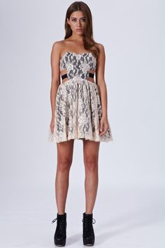 Lace Prom Dress With Cut Out