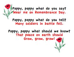 Remembrance Day Activities Children's book Blowin in the Wind by Bob Dylan. I also have some poppy booklets for first graders to practice their printing. Perfect for Remembrance Day or Veterans Day. Remembrance Day Poems, Remembrance Day Activities, Veterans Day Activities, Motor Activities, Sensory Activities, Veterans Day Poem, American Legion Auxiliary, Kindergarten Poems, Amigurumi
