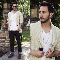 Forever 21 Cardigan, Jockey Shirt, H Jeans, Zara Shoes, Asha Patel Designs Necklace, English Laundry Watch, Ray Ban Sunglasses