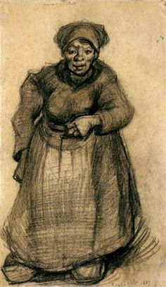 Woman with Her Left Arm Raised - Vincent van Gogh