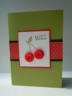 cherries! Cherry Fruit, Cherry On Top, Cherry Tree, Cherry Ideas, Arts And Crafts, Paper Crafts, Stone Fruit, Prunus, Cherries