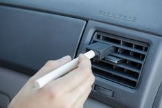 Clean vents with a foam craft brush. Dust and gunk will be cleared from A/C vents with this dollar store find.