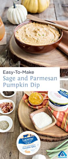 Looking for an autumn appetizer that will please any party? This sage and parmesan pumpkin dip is delicious and only takes 10 minutes to make!