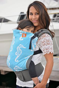 Tula Toddler Carrier - Blue Seahorses... I love this!! Probably will be Bella's next carrier