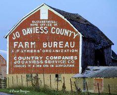 Jo Daviess County Farm bureau barn Elizabeth, IL by J Cruse Designs
