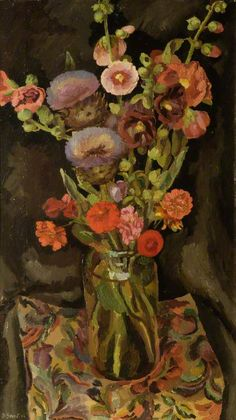 Duncan Grant (UK, - Flower Piece - 1922 - oil on canvas - Aberdeen Art Gallery & Museums, UK Duncan Grant, Vanessa Bell, Dora Carrington, Paintings I Love, Your Paintings, Flower Paintings, Painting Flowers, Art Floral, Arte Naturalista
