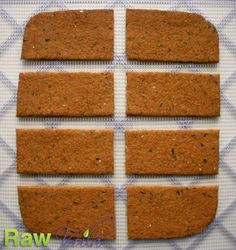 CARROT CUCUMBER BREAD - DEHYDRATED. SUB YEAST-FREE SWEETENER FOR DATES. 1 cup carrot juice pulp, tightly packed 1/4 cup cucumber juice pulp, tightly packed 1/2 cup golden flax seeds, ground 1 and 1/2 tablespoon dates, pitted and chopped 1 tablespoon raw coconut oil 1/2 teaspoon grey sea salt (fine grind) 1/4 cup pure water (optional)