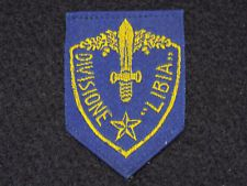 """Original WWII Italian Army African Division """"Libia"""" Scudetto Arm Shield Patch"""