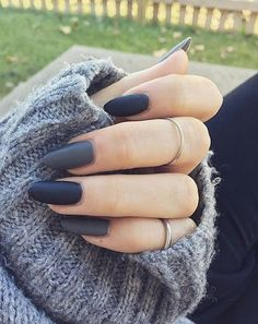 Match your matte Fall nails, to your favorite snug sweater!