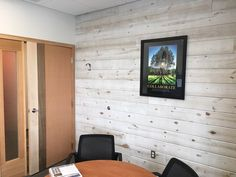 Rustic office space done in Easy BarnWood's Traditional White by Great American Spaces