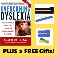 This Literacy Set with book & tools helps challenged readers with dyslexia. Choose this set for a challenged reader you know and receive 2 FREE gifts, too! Dyslexia, Free Gifts, Did You Know, Literacy, Challenges, Teacher, Student, Science, Tools