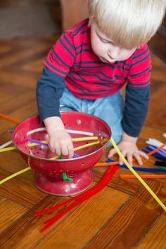 pipe cleaners and a colander!!