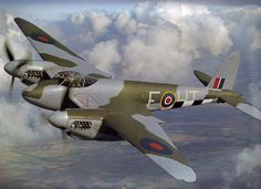 de Havilland Mosquito -F/O Frank Ruskell, No. 109 Sqd.#Repin By:Pinterest++ for iPad#