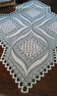 Hardanger Embroidery Tutorial beautiful subtle use of color Hardanger Embroidery, Embroidery Stitches, Embroidery Patterns, Hand Embroidery, Doily Patterns, Cross Stitches, Loom Patterns, Dress Patterns, Broderie Bargello