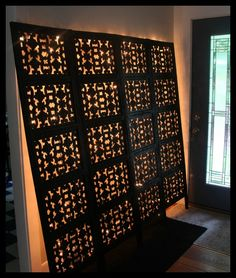 Light-Up Head Board, An Indian screen room divider re-made into a light-up head board., Ready to hang, Bedrooms Design