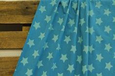 Lillestoff Sterne Stars petrol aqua BIO Jersey GOT von Stoff-Zaubereien auf DaWanda.com