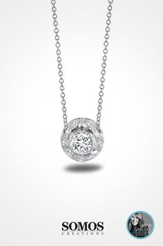 Somos Platinum and Diamond Necklace
