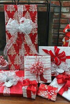 Red & White Christmas wrapping
