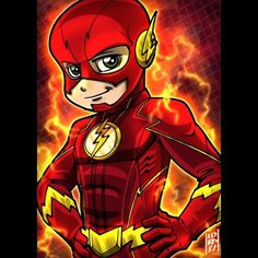 """""""Future Flash"""" @grantgust @cwtheflash Loved the brief glimpse of the future Flash suit in the teaser promo for the next episode...can't believe we have to wait for April 25th to watch it!!! #theflash #grantgustin #lordmesaart #clipstudiopaintex"""