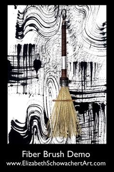 Fiber Brush Demonstration This brush was made by Elizabeth. It has a fan-shaped stiff fiber bristle Ink Painting, Fabric Painting, Architecture Drawing Art, Modern Art, Contemporary Art, Art Noir, Art Quilling, Calligraphy Art, Ink Art