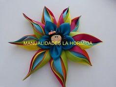 flor de puntas en cinta para el cabello paso a paso. DIY: satin ribbon flowers - YouTube