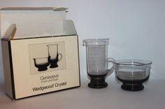 Dartington Wedgwood Crystal cream and sugar by MillCottageRetro