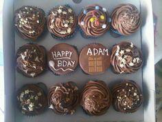 Adams birthday cupcakes