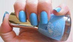 nail polish blue yes love swatch