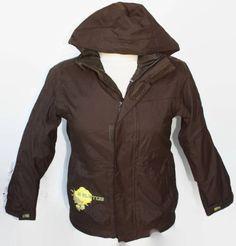 Burton Dryride Snowboard Jacket Coat Brown Size 7 / 8 Medium EU 140 Boys Poacher #Burton #SkiJacket