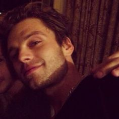 """""""sebastian stan tries out the ever seductive lamp lowlight"""" — It's working. ;)"""