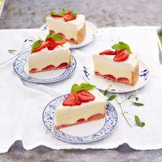 Strawberry and white chocolate cheesecake...