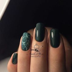 # Nails Green Nail Art, Green Nails, Emerald Nails, Casual Nails, Toe Polish, Gelish Nails, Beauty Nails, Cute Nails, Nail Colors