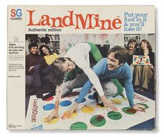 Always wanted to play Twister, but with females wearing tights/pantyhose/stockings. Twister Game, Dangerous Games, Milton Bradley, Old Games, Twisted Humor, Pulp Fiction, Jouer, New Wave, Vintage Ads