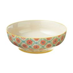 Brighten up your breakfast table with a springlike, blossomy, hand-painted serving bowl. Adorably retro like your grandma's serving dishes, it's perfect for dishing up pasta or fruit salad. It'll give ...  Find the Hand Painted Florals Serving Bowl, as seen in the Gifts Under $50 Collection at http://dotandbo.com/collections/gifts-under-50-dollars?utm_source=pinterest&utm_medium=organic&db_sku=CBK0099