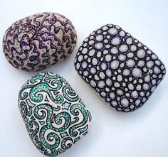 A pot of sharpies and a bit of creativity later and I have a selection of decorated pebbles.