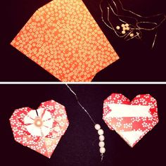 Simple Origami Paper Heart DIY - such a lovely little Heart Decoration (3)