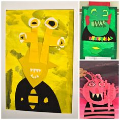 color emotion monsters. from the colors of my day blog.