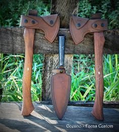 Axe Sheath, Knife Sheath, Leather Working, Metal Working, Axe Handle, Tomahawk Axe, Beil, Sword Design, Bushcraft Camping