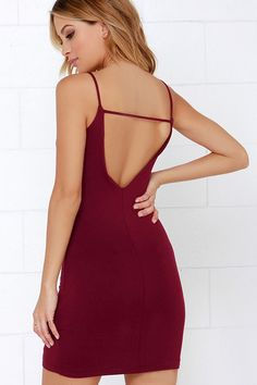 BOUGHT - SALE - After Party Wine Red Bodycon Mini Dress at Lulus.com!
