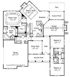 Ranch , 2300 sq ft | House plans | Pinterest | Ranch, Ranch floor ...