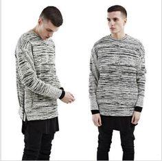 Fashion Men High Street Pull On Fleece The Gradient Stripes Size M-2XL New Coat | eBay