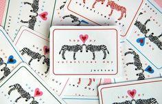 Free printable lovable zebra valentines! For my Zebra girl!