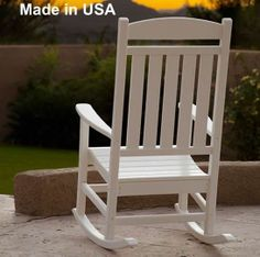 polywood recycled plastic presidential rocking chair outdoor