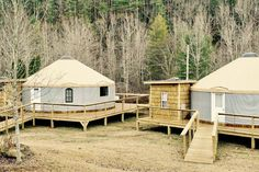 Explore the Brown Mountain Beach Resort, built by Blue Ridge Yurts.