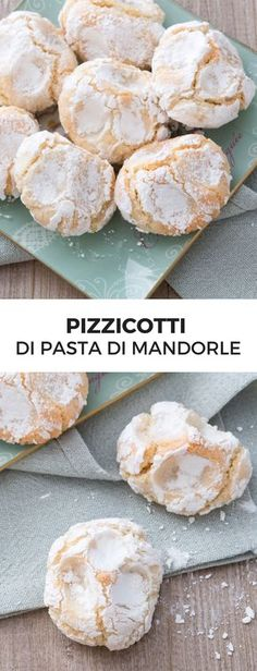 Pizzicotti di pasta di mandorle: tradizionali dolcetti siciliani dalla forma irregolare, deliziosamente morbidi e ricoperti di zucchero a velo! [Almond paste pastries/cookies from Sicily]